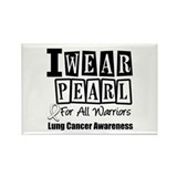 I Wear Pearl For All Warriors Rectangle Magnet (10