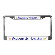Joe's Acoustic Guitar License Plate Frame