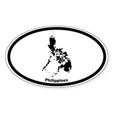 Philippines Outline Oval Decal