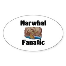 Narwhal Fanatic Oval Decal