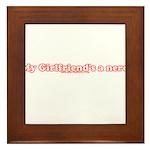 My Girlfriend's A Nerd Framed Tile