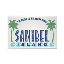 Sanibel Happy Place - Rectangle Magnet