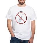 Douche Free Zone White T-Shirt