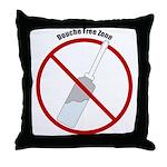 Douche Free Zone Throw Pillow