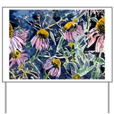 echinacea flower art gifts wa Yard Sign