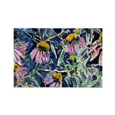echinacea flower art gifts wa Rectangle Magnet