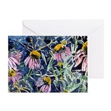 echinacea flower art gifts wa Greeting Card