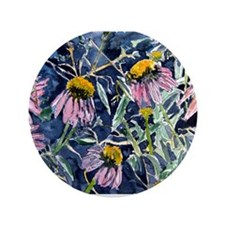 "echinacea flower art gifts wa 3.5"" Button (100 pac"
