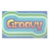 Groovy Rectangle Decal