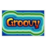 Groovy Rectangle Stickers