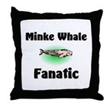 Minke Whale Fanatic Throw Pillow