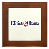 Elitists 4 Obama Framed Tile