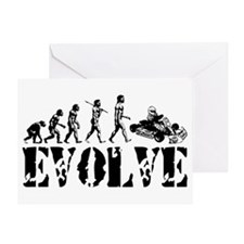 Go-Kart Evolution Greeting Card