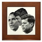 Obama - Kennedy (JFK, RFK) Framed Tile