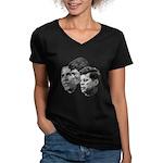 Obama - Kennedy (JFK, RFK) Women's V-Neck Dark T-S