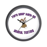 Rabbit turn yr back (ASPCA) Wall Clock