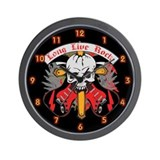 Long Live Rock Wall Clock