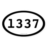 l337 - Leet Oval Decal