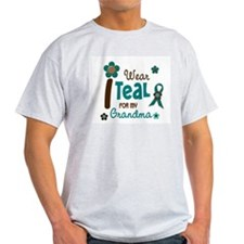 I Wear Teal For My Grandma 12 T-Shirt