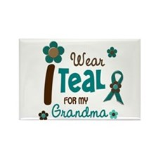 I Wear Teal For My Grandma 12 Rectangle Magnet (10