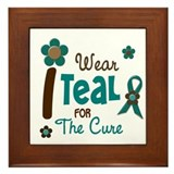 I Wear Teal For The Cure 12 Framed Tile