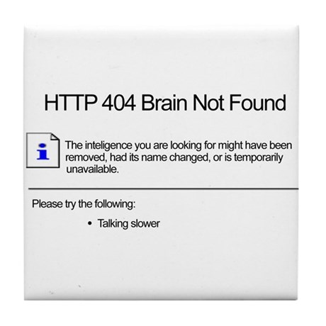 Geek 404 Error Tile Coaster