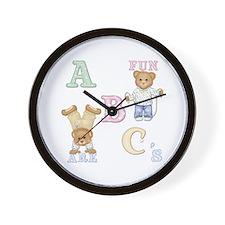 Teddy Tots Alphabet Bears Wall Clock