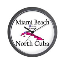 Miami Beach, North Cuba (2) Wall Clock