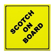 SCOTCH ON BOARD parody Tile Coaster