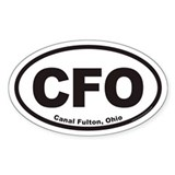 Canal Fulton Ohio CFO Euro Oval Decal