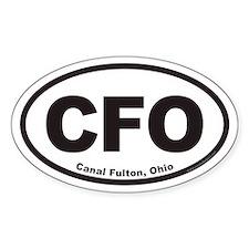 Canal Fulton Ohio CFO Euro Oval Decal