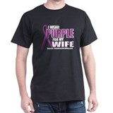 Fibromyalgia:Purple for Wife T-Shirt