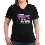 Fibromyalgia:Purple for Wife Shirt