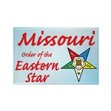 Missouri Eastern Star Rectangle Magnet