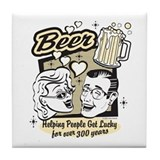 Beer- helping people score! Tile Coaster