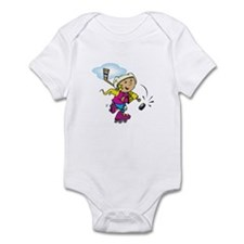 Cute Hockey Girl Infant Bodysuit