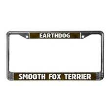 Earthdog Smooth Fox Terrier License Plate Frame