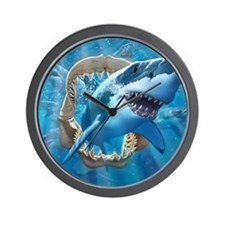 Great White 1 Wall Clock