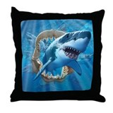 Great White 1 Throw Pillow