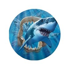 "Great White 1 3.5"" Button (100 pack)"