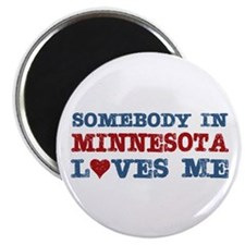 "Somebody in Minnesota Loves Me 2.25"" Magnet (10 pa"
