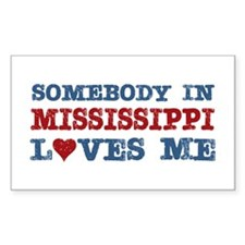 Somebody in Mississippi Loves Me Decal