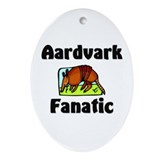 Aardvark Fanatic Oval Ornament
