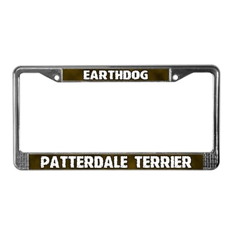 Earthdog Patterdale Terrier License Plate Frame