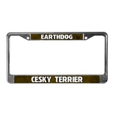 Earthdog Cesky Terrier License Plate Frame
