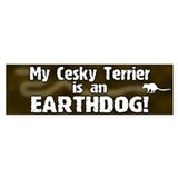 Cesky Terrier Earthdog Bumper Bumper Sticker