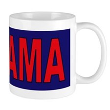 Red/Navy Blue Mug
