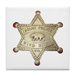 Wind River Police Tile Coaster