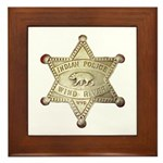 Wind River Police Framed Tile