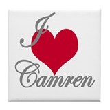 I love (heart) Camren Tile Coaster